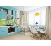 Baglioni - кухня с глянцевыми фасадами на площадь 9,3 кв. м.
