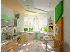 Balboni - кухня с горизонтальными шкафами на площадь 10,9 кв. м.