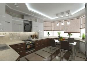 Bartoli - кухня со столешницей под окном на площадь 10,8 кв. м.