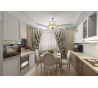 Bartolozzi - кухня с полками в потолок на площадь 12,9 кв. м.