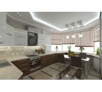 Bellucci - кухня с деревянной столешницей на площадь 8,1 кв. м.