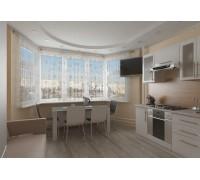 Benassi - кухня с балконом на площадь 12,9 кв. м.