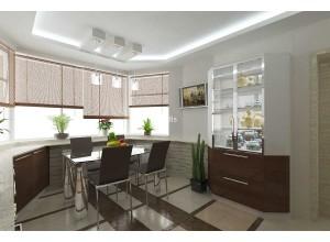 Betti - кухня с фасадами постформинг на площадь 8,7 кв. м.
