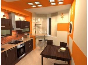Antonelli - кухня с современным дизайном на площадь 8,4 кв. м.