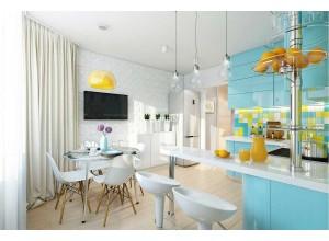 Arborio - кухня с современной планировкой на площадь 11,9 кв. м.