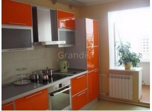 ФАБИО - кухня с панорамным остеклением, размер 9,5кв метра
