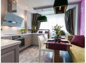 БЕТ - кухня с гостинной, размер 6,4кв метра