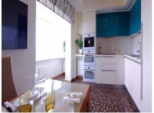 ГЛОРИЯ - кухня совмещена с балконом, размер 10,1кв метра