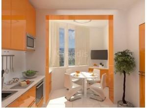 АКАЦИЯ - кухня с балконом, размер 5,6кв метра