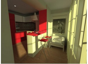 АДЕЛЬ - кухня совмещенная с лоджией, размер 5,7кв метра