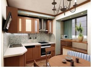 ИРМАНА - кухня с балконом, размер 9,6кв метра