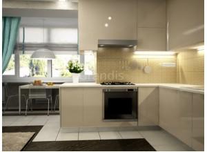 ГРЕТТА - кухня гостиная совмещенная с балконом, размер 13,4кв метра