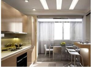 ИНДАСТРИАЛ - кухня с панорамным остеклением, размер 10,1кв метра