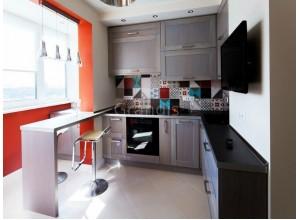 АКЦЕНТ - кухня с навесными шкафами, размер 7,3кв метра