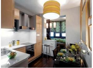 УНО - кухня в панельном доме, размер 5,4кв метра